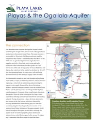 Playas and the Ogallala Aquifer fact sheet