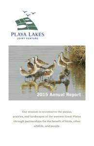 2015 PLJV Annual Report