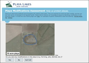Playa Modifications Assessment